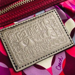 Coach Bags - Coach Poppy Nylon Pink Signature Print Crossbody